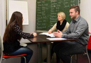 05er-Klassenzimmer, Bewerbungstraining 2015, Klasse BF 1 15c, Sophie-Scholl-Schule, BBS 2 Mainz