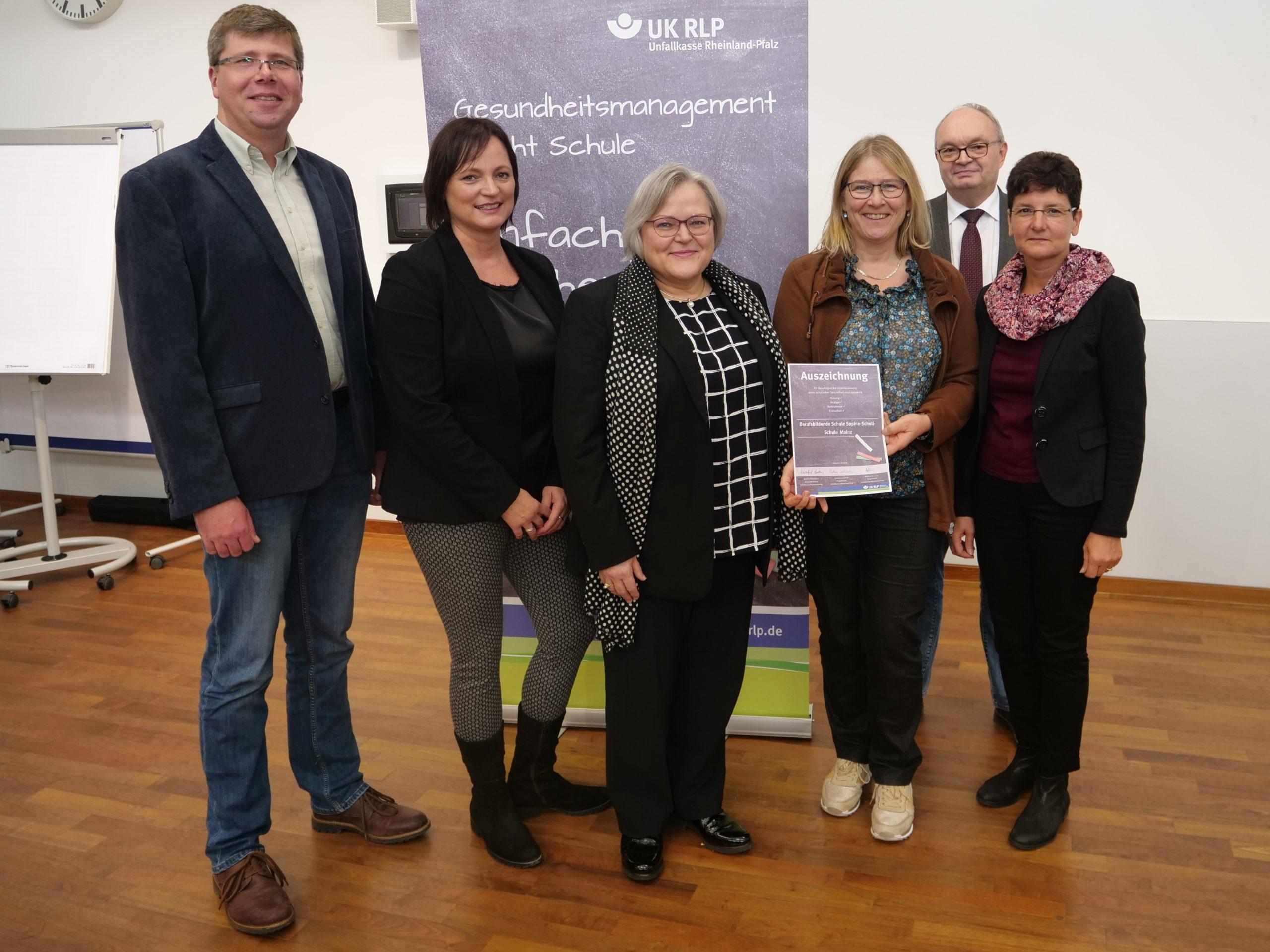 Gemeinsames Projekt zur Lehrergesundheit -Projekt mit Unfallkasse und der Sophie-Scholl-Schule