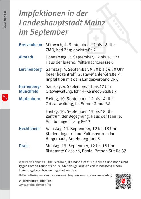Impfaktionen Mainz September
